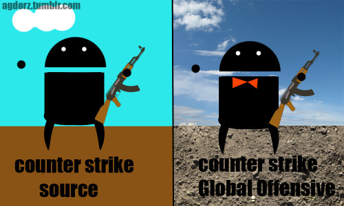 Counter Strike Source vs Golbal Offensive By Tatongo.