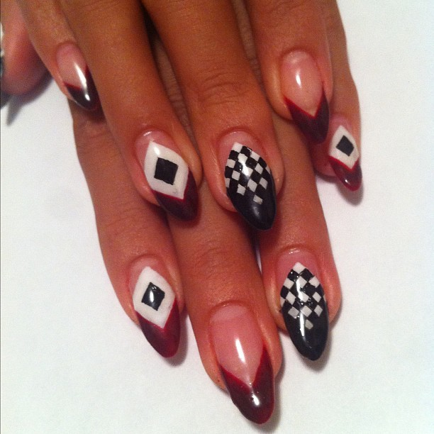 @givenchyofficial Resort 2013 inspired #nail #nailart  (Taken with Instagram)