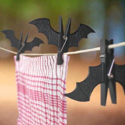 Bat Peg Clips - Useful clips, shaped like sleeping vampire bats.
