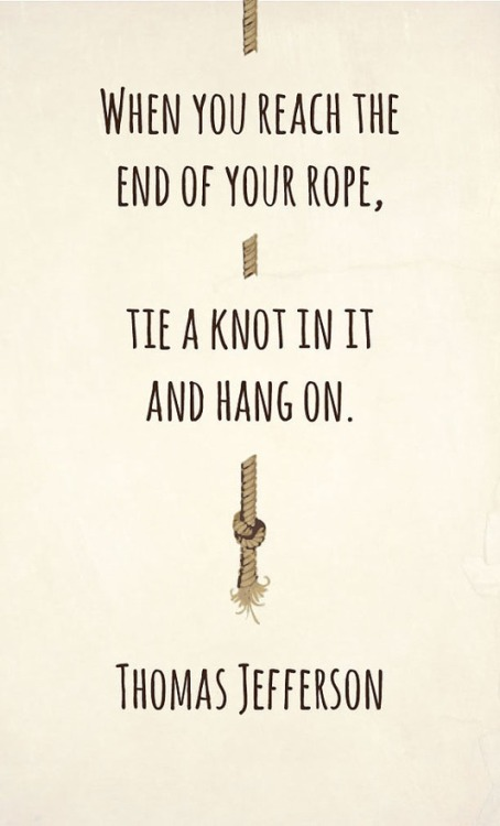 "friedasophiejewelry:  i""m on the end of my rope"
