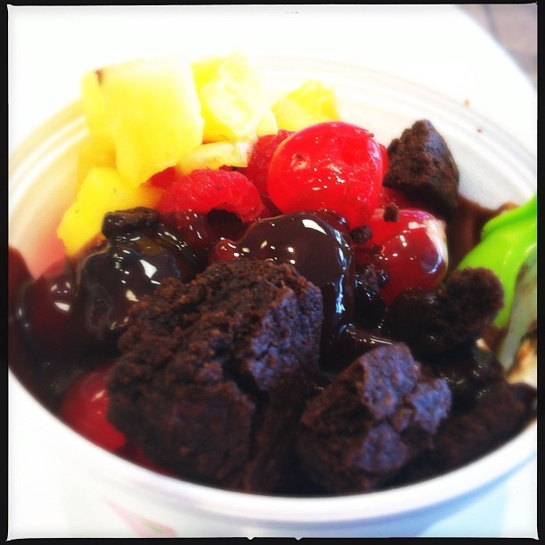 Hot fudge brownie bliss (Taken with Instagram at Sweet Frog)