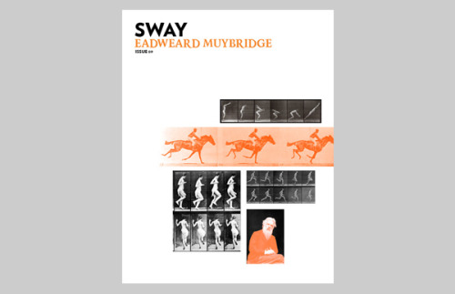 It's been a long time coming but issue 9 of Sway is now online and available to download.  For this issue, Rory and I wanted to experiment with a different type of theme so we decided to  choose a person and publish an entire issue around that person - it could be a response to them, a biography, a showcase. We chose to explore Eadweard Muybridge the photographer most known for his sequential images of galloping horses. For me personally, Muybridge has been a big inspiration to me and it was great to dive into his history and work further to produce this issue. Go take a look!