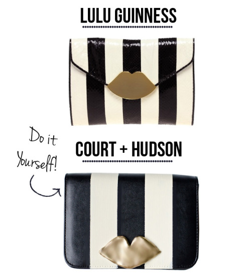 DIY: Lulu Guinness Inspired Lips Clutch | Court Hudson via whimsey box.