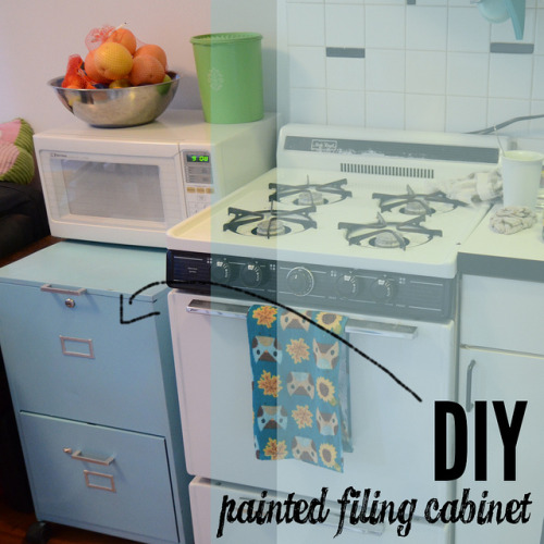 (via Stars for Streetlights: DIY Painted Filing Cabinet (For the Kitchen!))