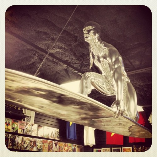 Silver Surfer, my favorite! (Taken with Instagram at Austin Books & Comics)