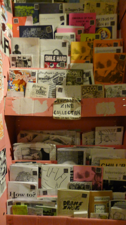 Check out the permanent zine collection at The Smell, stocked by LA Zine Fest organizer Rhea!