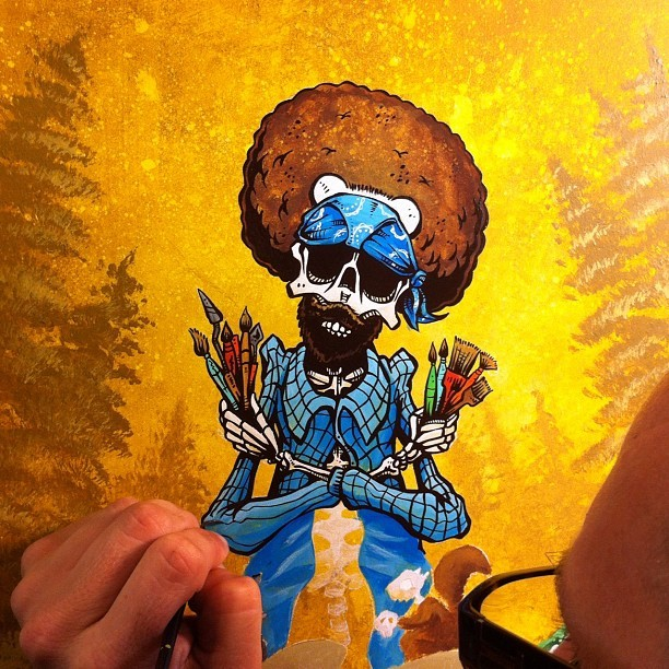 davidlozeau:  A little more Bob Ross progress (Taken with Instagram)