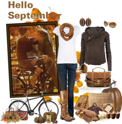 Hello September by shellyontour featuring a scoop neck shirtScoop neck shirt, $44 / PRPS Heirloom vintage jeans / Mojo Moxy round toe boots / Proenza Schouler suede handbag / Bohemian earrings / Bounkit tiger eye ring / Tom Ford  eyewear, $255 / Fat Face crochet scarve, $29 / Kearny Spice Throw / Keyhole Journal 8x6in / Water Hyacinth Cushion, $41 / Autumn Leaf Palette No. 3 - 8x10 Photo - Minimal Rustic Modern Decor / Pumpkin / Williams-Sonoma Pumpkin Parmesan Pasta Sauce / Vine Pumpkins / Buy Cinnamon Sticks, Pack of 6 online at JohnLewis.com, $6.18