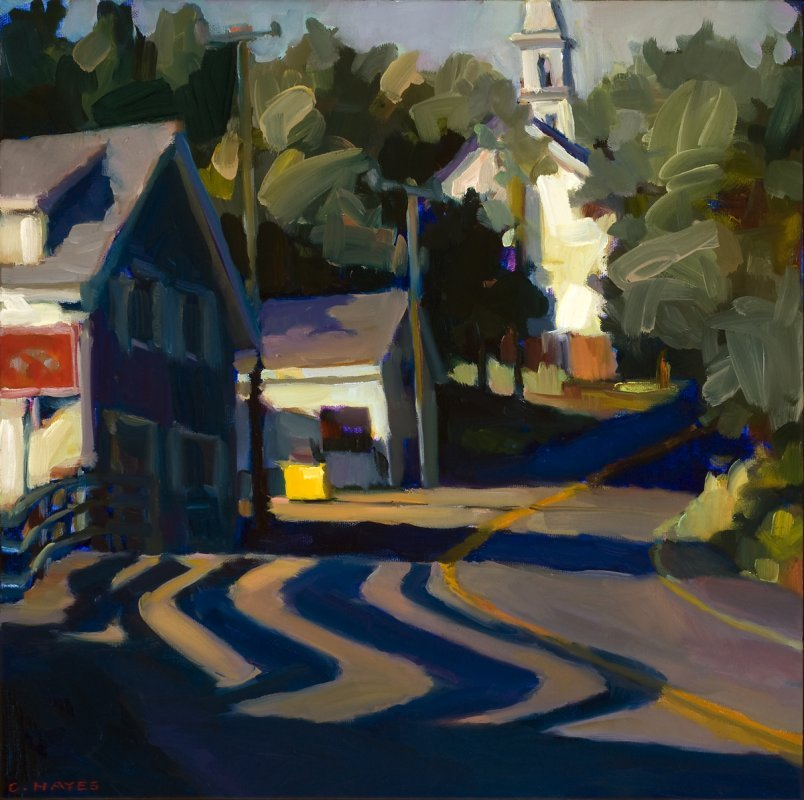 chasingtailfeathers:  Connie Hayes  The Curves, East Boothbay  Oil on canvas