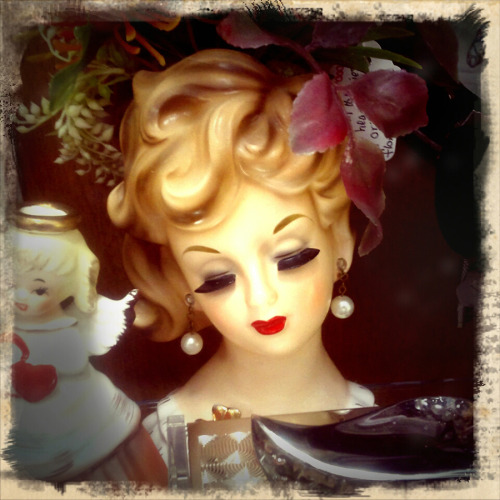 More heads…..photographed with Retro Camera for Android © Colleen G. Drew