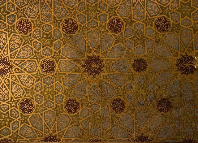 Ceiling of a synagogue in Krakow, Poland