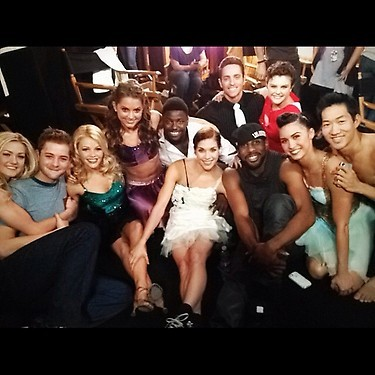"Reppin' seasons 2-9! Lindsay Arnold (S9), Will Thomas (S9), Witney Carson (S9), Tiffany Maher (S9), Ade Obayomi (S5), Allison Holker (S2), Ryan Di Lello (S6), Stephen ""tWitch"" Boss (S4), Melanie Moore (S8), Lauren Gottlieb (S3), and Alex Wong (S7)."