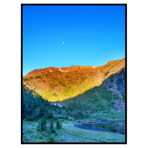 sunrise/moonset  (Taken with Instagram at Crater Mountain, North Cascades, WA)