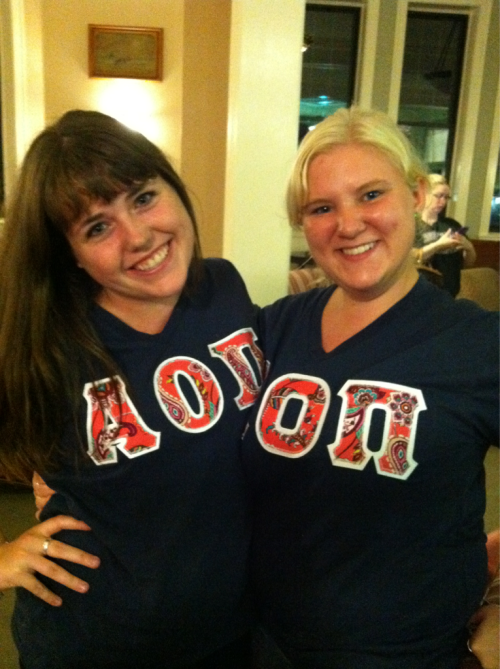 Big and little letters :) alpha love to the best big in the world!