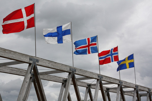 rightupnorth:  Scandinavian Flags by paperseed on Flickr.