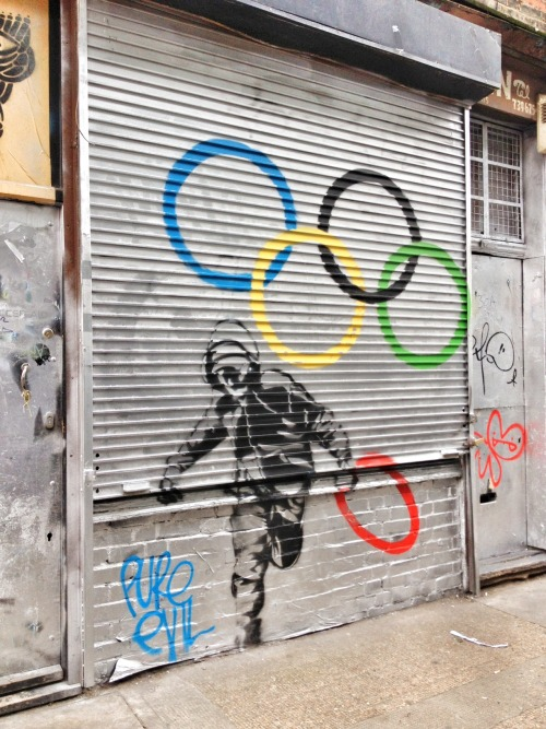 The Hunt is on! The clue :: If street art were an Olympic sport, Pure Evil would own gold. Name the country he hails from (and include your own favorite Olympic sport) and we'll put your name in a drawing to be Champ TOMORROW at 10am PST (right before the September Kit is announced!).    Tweet your caption to @radandhungry, or post to Facebook. Champion of the Hunt wins a custom kit filled of awesomeness sourced from the September 2012 source country.
