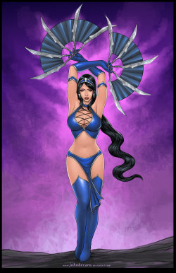 powerdrain:  KITANA of Mortal Kombat by *johnbecaro