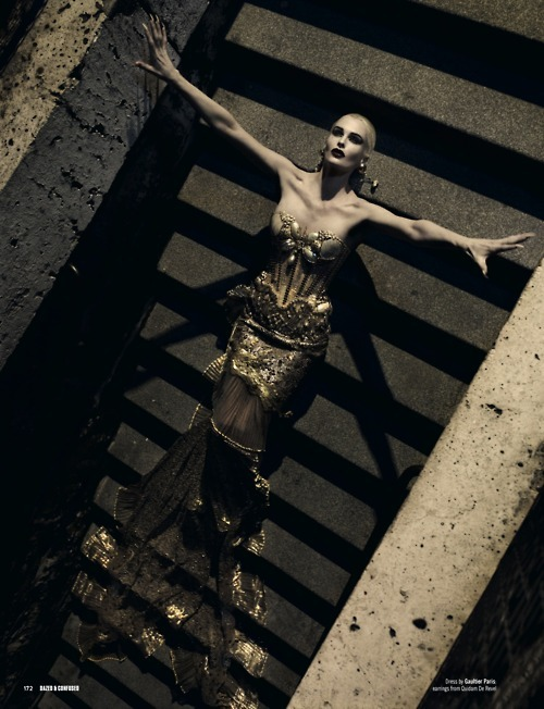 hautecouturecode:  Mariano Vivanco for Dazed & Confused - Jean Paul Gaultier Haute Couture SS08