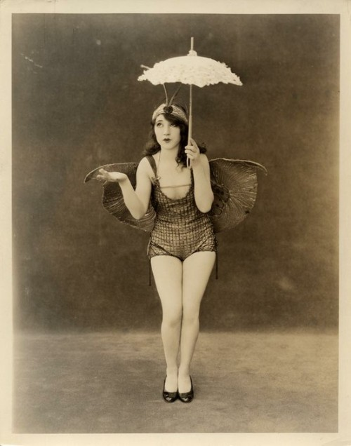 sisterwolf:  Luna Moth Girl with parasol - 1920s