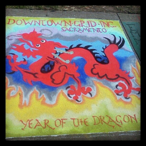 Love the colors on this entry from Downtown Grid #chalkitup #sacramento  (Taken with Instagram)
