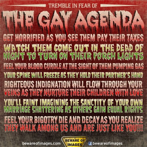 Graphic Art and (Image) Irony You May Have Missed That Spooky Gay Agenda Graphic from BewareOfImages.com (ran by director Sergio Toporek)