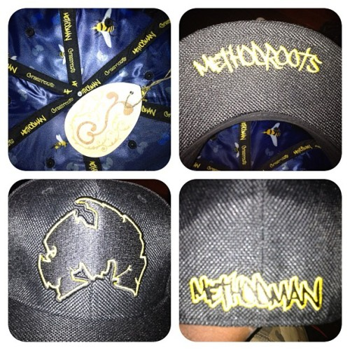 Method Man x Grassroots x Darkness Bros fitted cap! #mytags #methodman #grassrootscalifornia #wutang #killerbees #handstyle #logo #dashikigram #darknessbrothers #rtb #fittedcap #therehego  (Taken with Instagram)