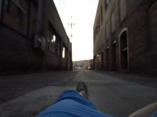 And then I laid down in said alley…