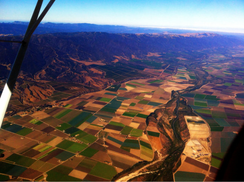 tdpilot:  This was 20 miles south of Watsonville. Amazing to see how perfectly separated the plots of land are.