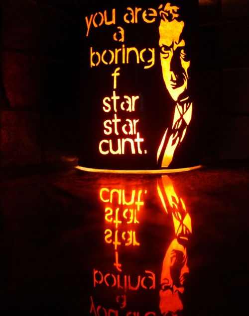 Today I made a Malcolm Tucker lantern.