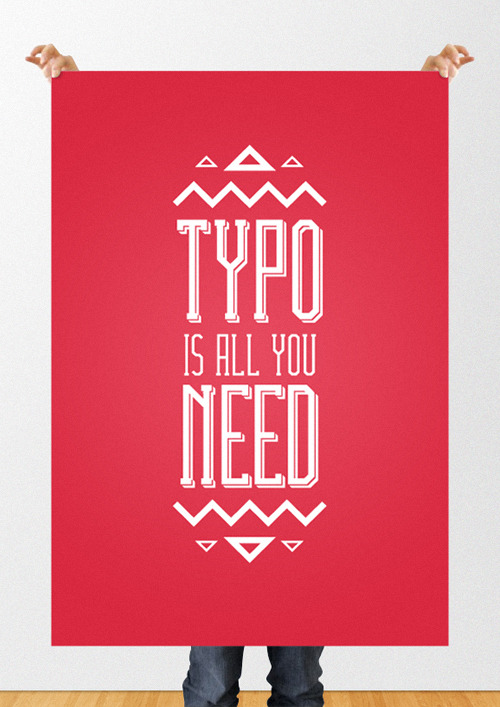 markojotic:  Typo/Love Is All You Need - Poster