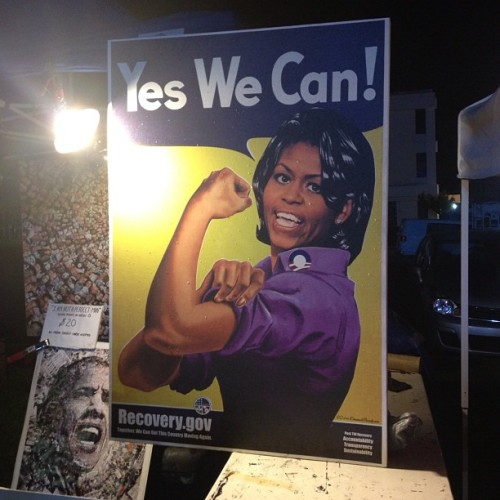 #yeswecan #dnc2012 #signs  (Taken with Instagram at NASCAR Hall of Fame)