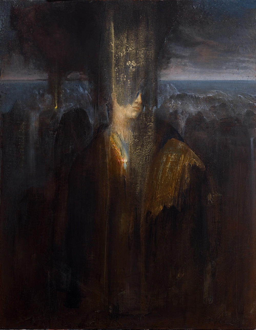Agostino Arrivabene - Pizia, 2012          Paintings: Oil, Gold Leaf on Wood