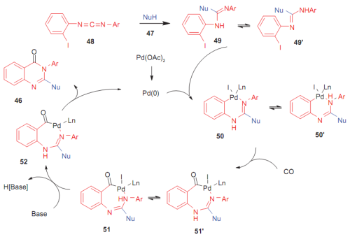 Scheme 15 from 'Carbodiimides-Mediated Multi Component Synthesis of Biologically Relevant Structures' Published in Organic Chemistry Insights
