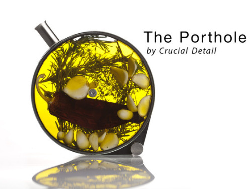 (via The Porthole by Martin Kastner / Crucial Detail — Kickstarter) 17 hrs to go for this awesome amazing piece of work to infuse teas, drinks, oils, and whatever else you can think of. Act now and you get two fantabulous wine glasses with it too! My brother-in-law's a fantabulous genius cook, and I know he (and my sister) would love it. Get yours now while you can!