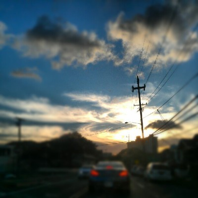 Sky cripness #sunset #hawaii #oahu #beautiful #home #beachday #hellyeah #swirlysclouds (Taken with Instagram)