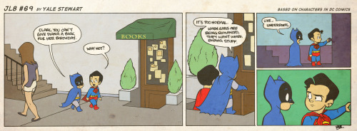 jl8comic:  JL8 #69 by Yale Stewart Based on characters in DC Comics. Creative content © Yale Stewart. Like the Facebook page here! Don't forget to come see me September 8-9 at Baltimore Comic-Con, Table 278!  What the heck, Bruce