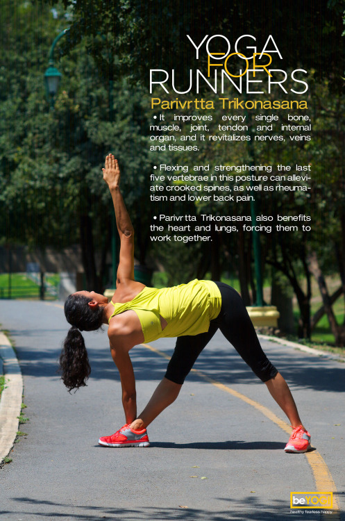 Yoga for runners. Parivrtta Trikonasana