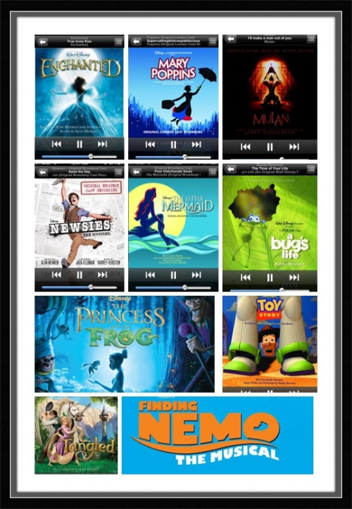 Took Screen Shots of My Fav Disney Songs on My IPod :)