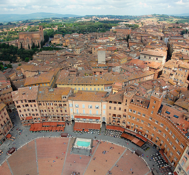 i-wish-i-was-a-fish:   | ♕ |  View from Torre del Mangia - Siena, Italy by © VT_Professor | via ysvoice  my favourite place <3
