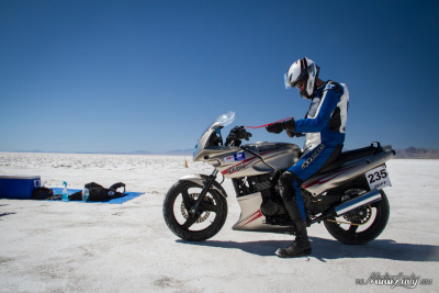 Ninja on the salt flats! Look out!