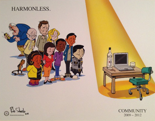 brianmichaelbendis:  Community without Dan Harmon by Rob Schrab  LOVE Community!