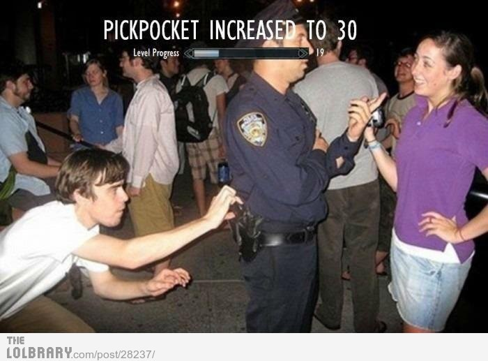 Pickpocket Leveling.Follow this blog for the best new funny pictures every day