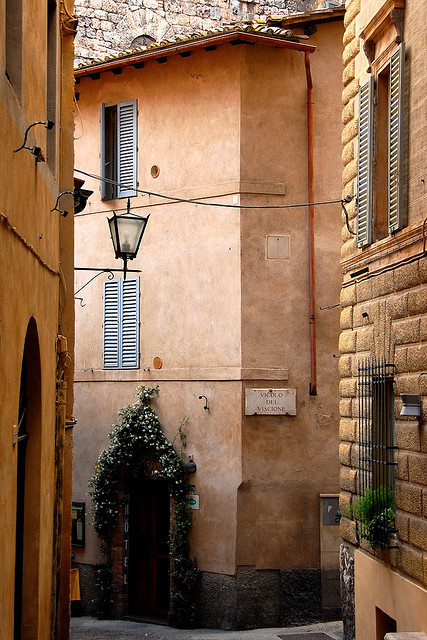| ♕ |  Vicolo del Viscione - quiet street in Siena  | by © VT_Professor