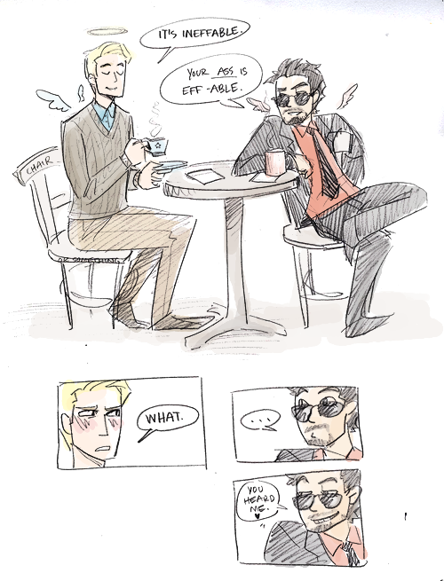 michellicopter:  more GoodOmens!Stony because I'm avoiding homework.
