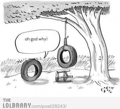 Tire Suicide.Follow this blog for the best new funny pictures every day