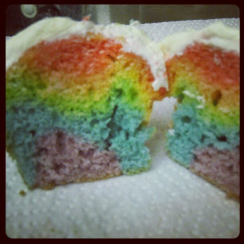 Rainbow cupcakes I made for dc pride last year! #pride #love Cupcakes #cake #rainbow #equality #loveislove #prideparade (Taken with Instagram)