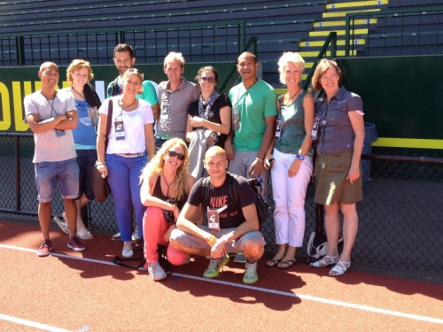 Team Photo at Hayward Field, Eugene, Oregon. #tracktownusa