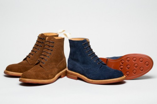 Tricker's x Norse Projects Suede Boots