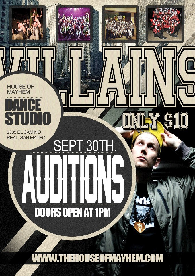 YO YOU DIDN'T HEAR, ACADEMY OF VILLAINS IS HAVING AUDITIONS THIS MONTH? COME OUT AND AUDITION FOR THE MOST HARD WORKING TEAM IN THE USA!   —-VILLAIN | KHAMBHAM