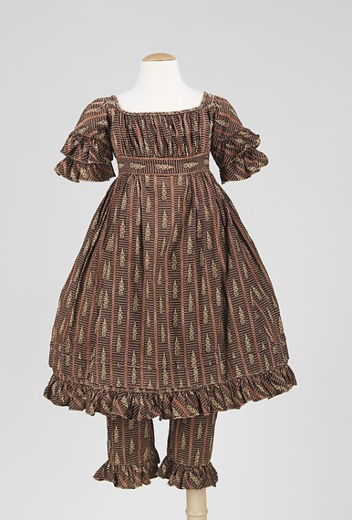 Child's ensemble 1820s The Metropolitan Museum of Art
